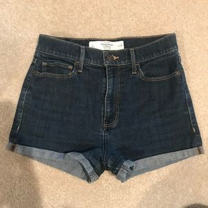High waisted jean shorts by Abercrombie and Fitch